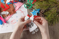 Preparation for the coming Christmas Stock Images