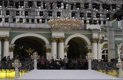 Preparation for the concert Stock Photo