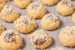 Preparation of Czech homemade sweet scones buns Royalty Free Stock Photography