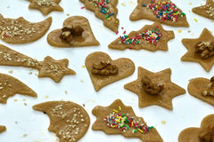 Preparation delicious cookie. Royalty Free Stock Images