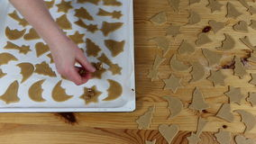 Preparation delicious cookie. stock video footage