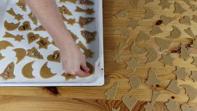 Preparation delicious cookie. stock footage