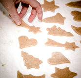 Preparation delicious cookie. Royalty Free Stock Image
