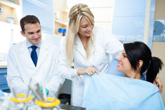 Preparation of a dentist treatment Stock Image