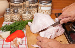 Preparation of a dinner Stock Images