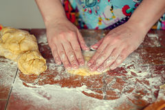 Preparation of the dough. Preparation of dough for baking royalty free stock images