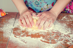 Preparation of the dough. Preparation of dough for baking stock photography