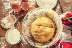 Preparation of the dough. Preparation of dough for baking Stock Photos