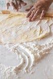 Preparation of Dough for Baklava Stock Image