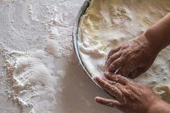 Preparation of Dough for Baklava Royalty Free Stock Photo