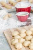 Preparation of Dough for Baklava Stock Photos