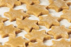 Preparation dough. Delicious ginger biscuits. Bakery products Royalty Free Stock Photography