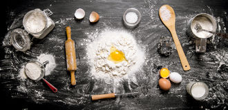 Preparation of the dough Royalty Free Stock Images