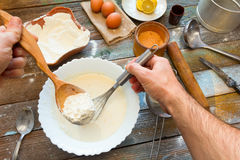Preparation of the dough Royalty Free Stock Photo