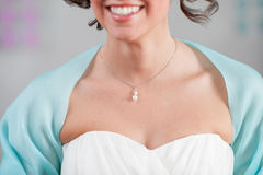 Preparation and dressing of the bride Royalty Free Stock Image