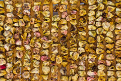 Preparation of dried figs Stock Image
