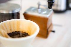 Preparation drip coffee Royalty Free Stock Photo