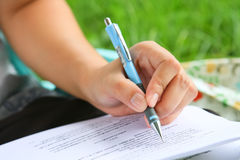 Preparation for examinations Royalty Free Stock Photo