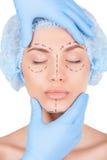 Preparation for facial surgery. Royalty Free Stock Photo