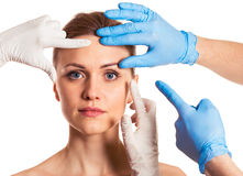 Preparation for facial surgery Stock Photo