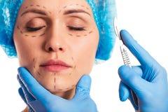 Preparation for facial surgery Royalty Free Stock Photos