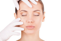 Preparation before facial surgery. Stock Images