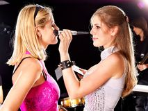 Preparation for fashion show. stock images