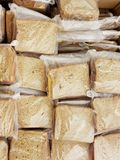 Large group of sandwiches on wheat bread prepared for the hungry. royalty free stock photography