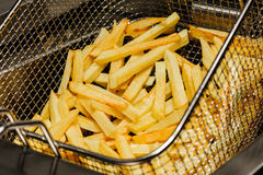 Preparation of french fries Royalty Free Stock Images