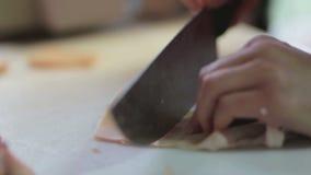 Preparation of fresh beef. Preparation fresh beef italian tradion of sausage stock footage