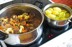 Preparation the fricassee Stock Images