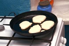 Preparation fritters Royalty Free Stock Image