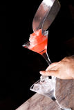 Preparation of frozen cocktail Stock Photography