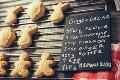 Preparation of gingerbread cookies. Stock Photos