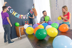 Preparation for graduation party royalty free stock photos