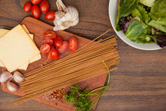 Preparation of a healthy gourmet meal Stock Photography