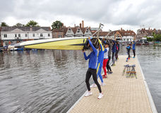 Preparation for Henley Regatta Stock Photo