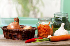 Preparation of home-made vegetable Stock Images