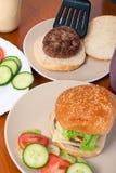 Preparation of homemade hamburgers Royalty Free Stock Photography