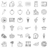 Preparation icons set, outline style. Preparation icons set. Outline style of 36 preparation vector icons for web isolated on white background Stock Photo