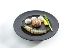 Preparation of ingredients for frying on teppan Stock Images