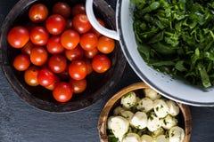 Preparation ingredients for italian salad Stock Image