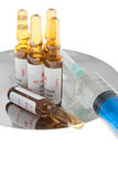 Preparation for an injection Stock Images