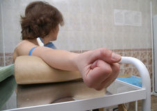 The  preparation for intravenous injection. In the madical room Royalty Free Stock Photography
