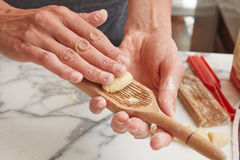 Preparation of Italian Gnocchis Royalty Free Stock Photo