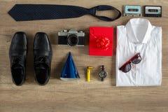 Preparation items for birthday Stock Photos