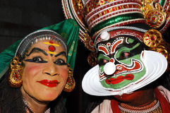 Preparation for KATHAKALI dance Stock Images
