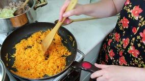 Preparation of lasagne. stock video footage