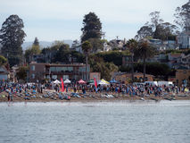 Preparation of the launch of Jay Race 2015 Capitola California Royalty Free Stock Photography