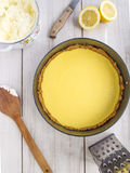 Lemon pie. Royalty Free Stock Photos